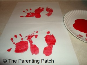 Making Paint Handprints