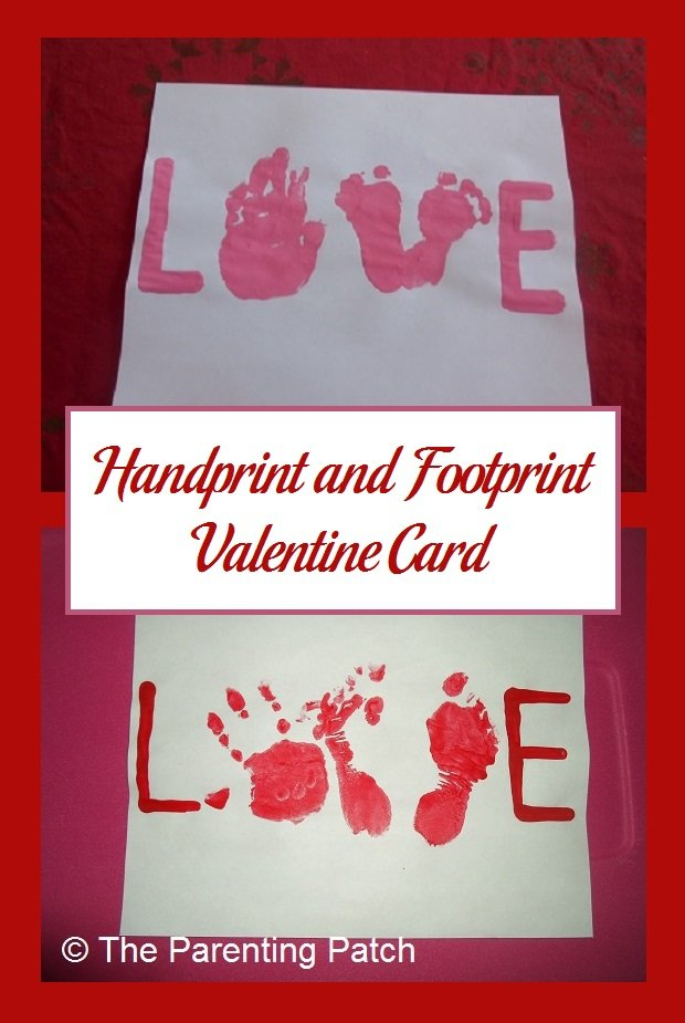 Handprint and Footprint Valentine Card – Simple Valentines Day Cards