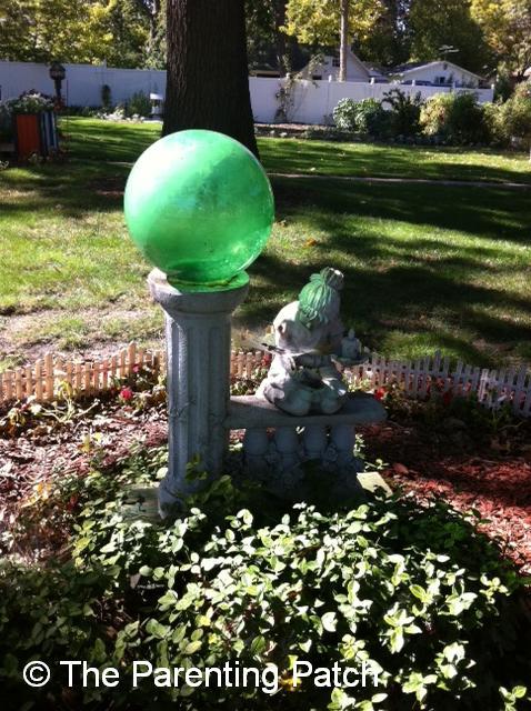 Green Gazing Ball
