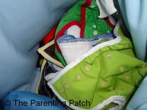 Dirty Cloth Diapers in Wet Bag