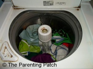 Dirty Cloth Diapers in Cold Rinse Cycle