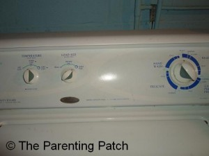 Washer Set to Warm/Cold, Super Plus, and Heavy Wash Cycle