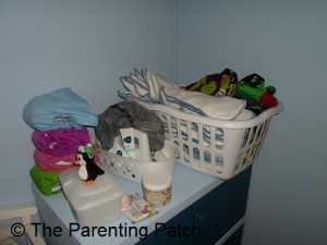 lean Cloth Diapers in Basket