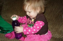 Playing with Sensory Bottles: Wordless Wednesday