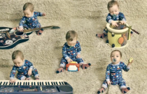 Baby Rocks Out with Five Instruments at One Time