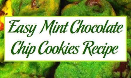 Easy Mint Chocolate Chip Cookies Recipe