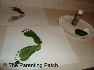 Two Green Footprints
