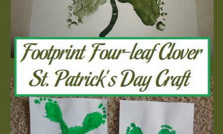 Footprint Four-leaf Clover St. Patrick's Day Craft