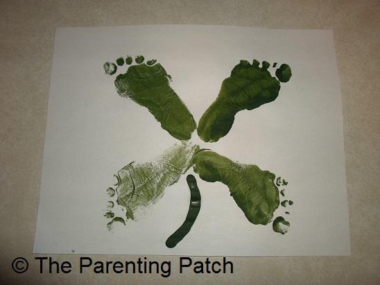 Footprint Four-leaf Clover Toddler Craft