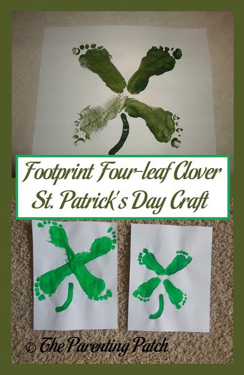 Footprint Four-leaf Clover St. Patrick's Day Craft