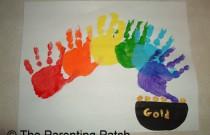 Handprint Rainbow St. Patrick's Day Toddler Craft