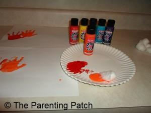 Orange Handprint