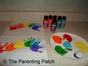 Purple Handprint