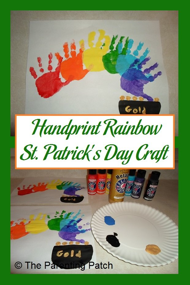 Handprint Rainbow St. Patrick's Day Craft