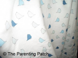 True Blue and Blue Little Chickies SwaddleDesigns Flannel Fitted Crib Sheet