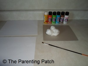 Supplies for Easter Handprint and Footprint Toddler Craft