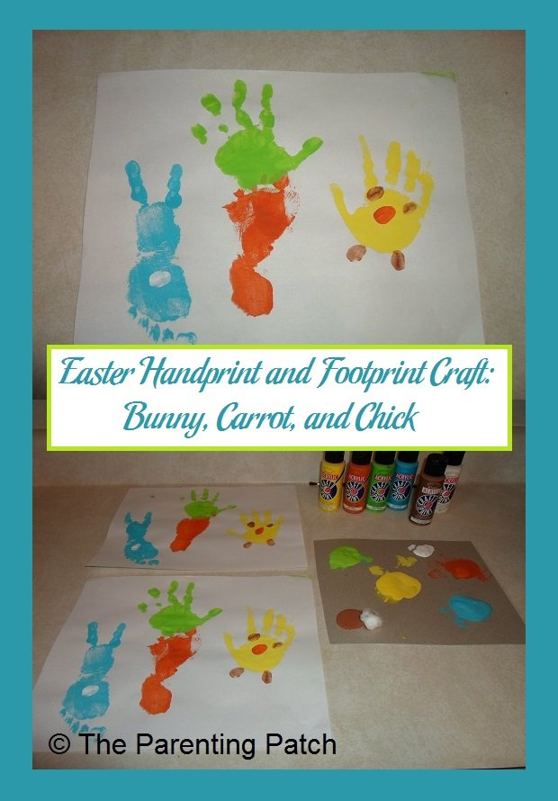 Easter Handprint And Footprint Craft Bunny Carrot Chick