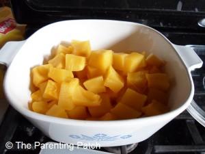 Cooked Pumpkin Chunks