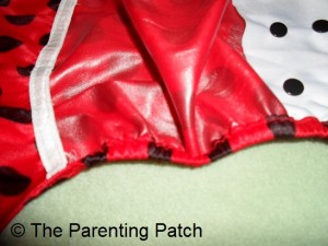 Back Flap and Single Leg Gusset of Wolbybug Diaper Cover