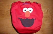 Handmade Elmo Cloth Diaper: Wordless Wednesday