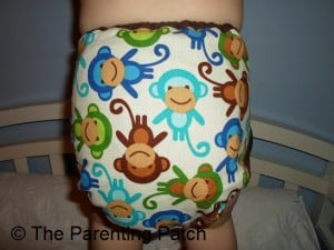 Monkey Fun Planet Wise Cloth Diaper 6