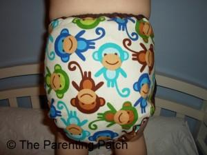 Monkey Fun Planet Wise Cloth Diaper 6