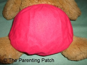 Back of Smallest Setting of Ecobumz All-In-One Cloth Diaper