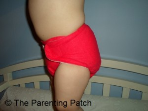 Side of Ecobumz All-In-One Cloth Diaper
