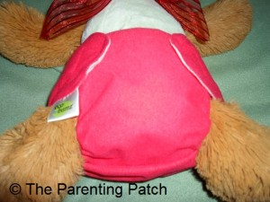 Front of Smallest Setting of Ecobumz All-In-One Cloth Diaper