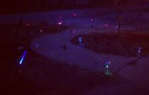 Setting Up Solar Garden Lights: Wordless Wednesday