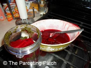 Pureeing the Beets with the Beet Greens