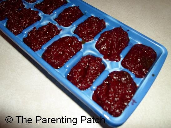 Beets and Beet Greens Baby Food Cubes
