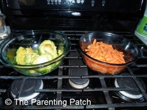 Cooked Avocado and Carrots