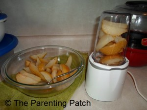 Pureeing the Cooked Pears