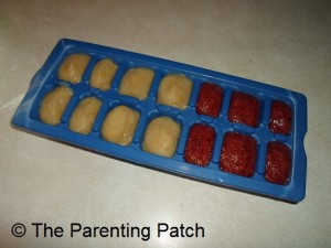 Pear and Pear with Cherry Baby Food Cubes