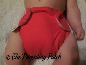 Front of Ecobumz All-In-One Cloth Diaper on 17 Pound Infant