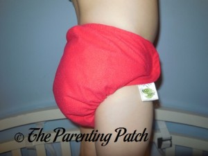 Side of Ecobumz All-In-One Cloth Diaper on 30 Pound Preschooler 2