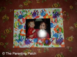Finished Mother's Day Handprint Photo Canvas Craft
