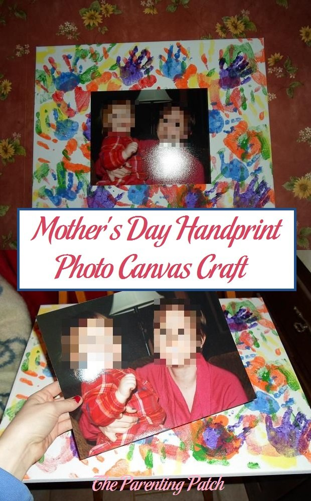Mother's Day Handprint Photo Canvas Craft