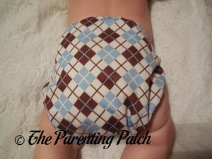 Back of Scottish Storm Thirsties Duo Cover on 17 Pound Infant
