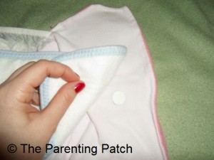 Attaching the Insert to the ZiggleBaby One-Size Cloth Diaper