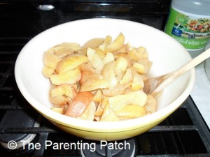 Cooked Apple Slices in a Bowl