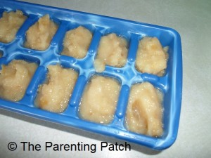 Mashed Apple Baby Food Cubes