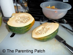 Slicing the Acorn Squash