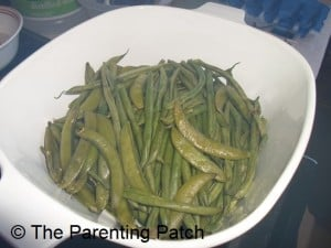 Cooked Green Beans and Peas