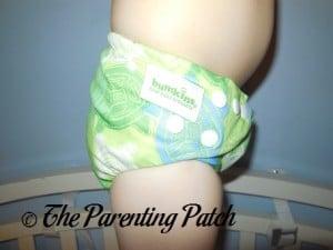 Bumkins Snap-in-One Diaper on 30 Pound Preschooler 5