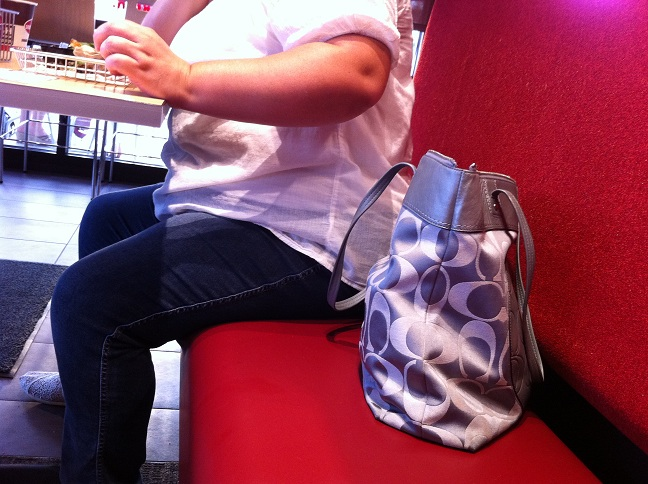 Obese Lady at Smashburger