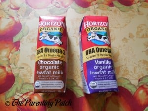 DHA Omega-3 Horizon Organic Chocolate and Vanilla Milk