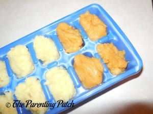 Parsnip and Sweet Potatoes with Parsnips Baby Food Cubes