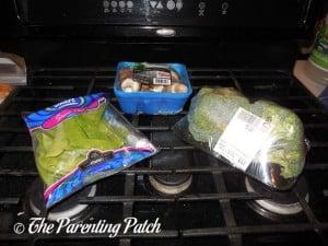 Snow Peas, Mushrooms, and Broccoli